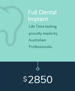 Full Dental Implant cost in Melbourne
