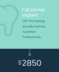 Full Dental Implant cost in Melbourne